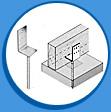 Стъпка за бетониране Г-образна