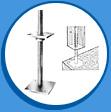 Стъпка за вертикална колона (регулируема по височина)