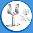 Стъпка за вертикална колона (регулируема по височина и широчина)